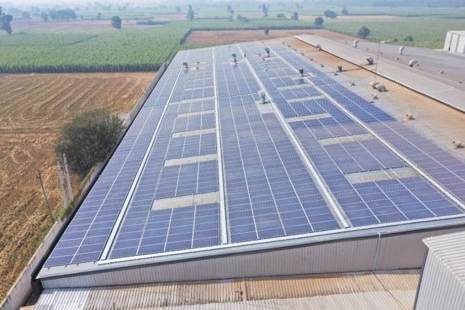 Solar on grid plant in Faridabad
